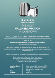 Friends of Vista Nova Annual Auction